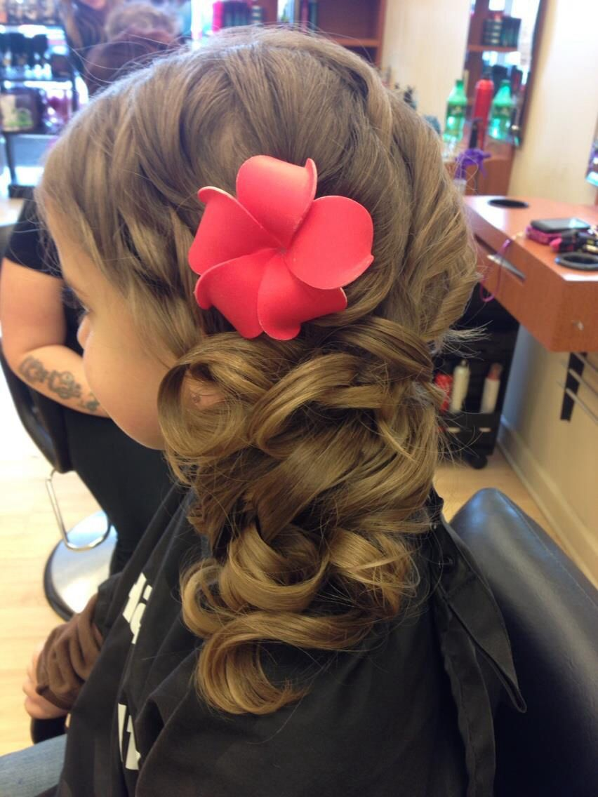 little girl daddy daughter dance style with flower :) | hair