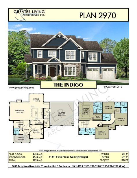 Charming Plan 2970: THE   House Plans   2 Story House Plan   Greater Living  Architecture