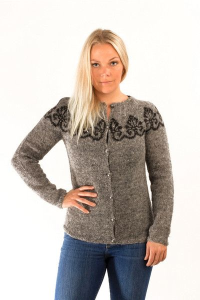 61a218619b ... beauty 076f3 4fb24 Icelandic Hruni Wool Cardigan Grey - Wool Sweaters - Nordic  Store Icelandic Wool ...