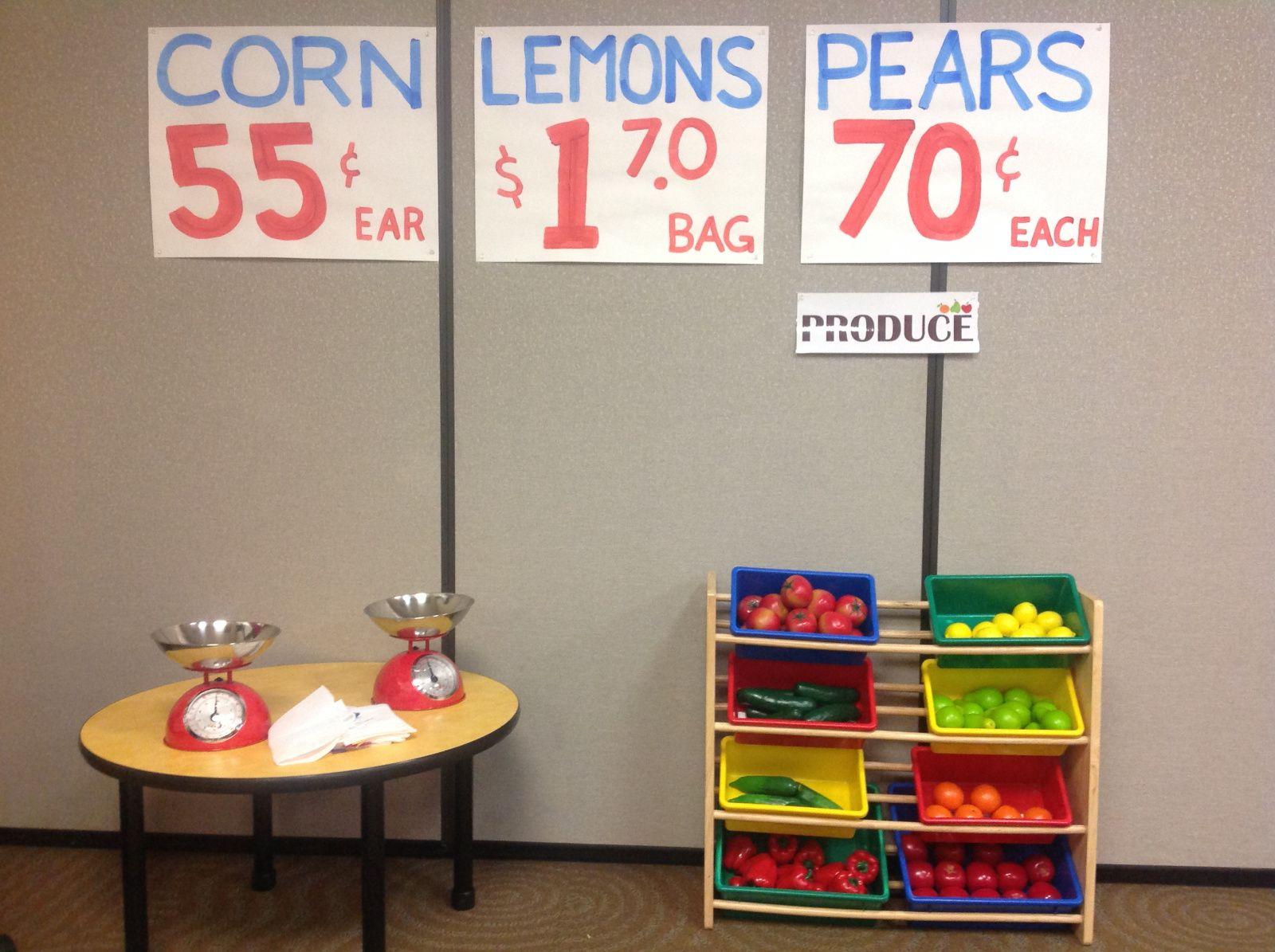 Preschool Grocery Store Sign