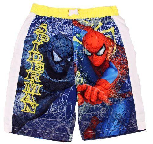 "Spiderman ""Venom & Spiderman"" Toddler Boys Swim Shorts Swimsuit 2T-4T $15.99"