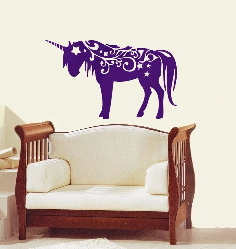 magical Unicorn vinyl Wall DECAL- Animal interior design ...