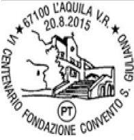 L'Aquila: disponibile l'annullo filatelico per il centenario della fondazione del Convento di San Giuliano
