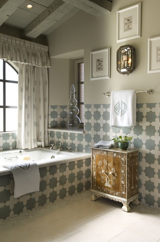 Moroccan Style Bathroom Design Ideas