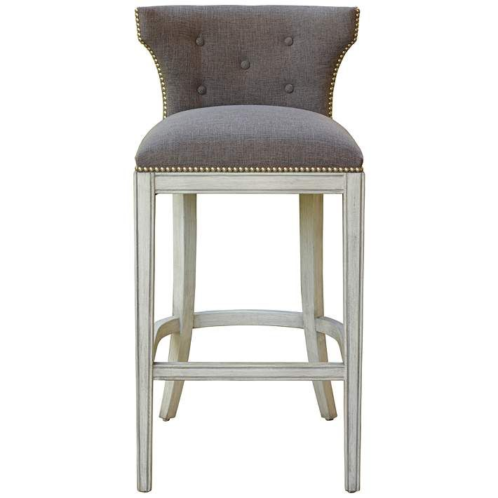 Outstanding Marisol 26 1 4 Erin Pewter Allegro Gray Counter Stool Pabps2019 Chair Design Images Pabps2019Com