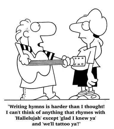 The woes of hymn writing..