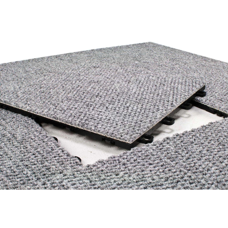 Blocktile 12 X 12 Premium Interlocking Basement Floor Carpet Tile In Gray Floor Carpet Tiles Basement Carpet Carpet Tiles
