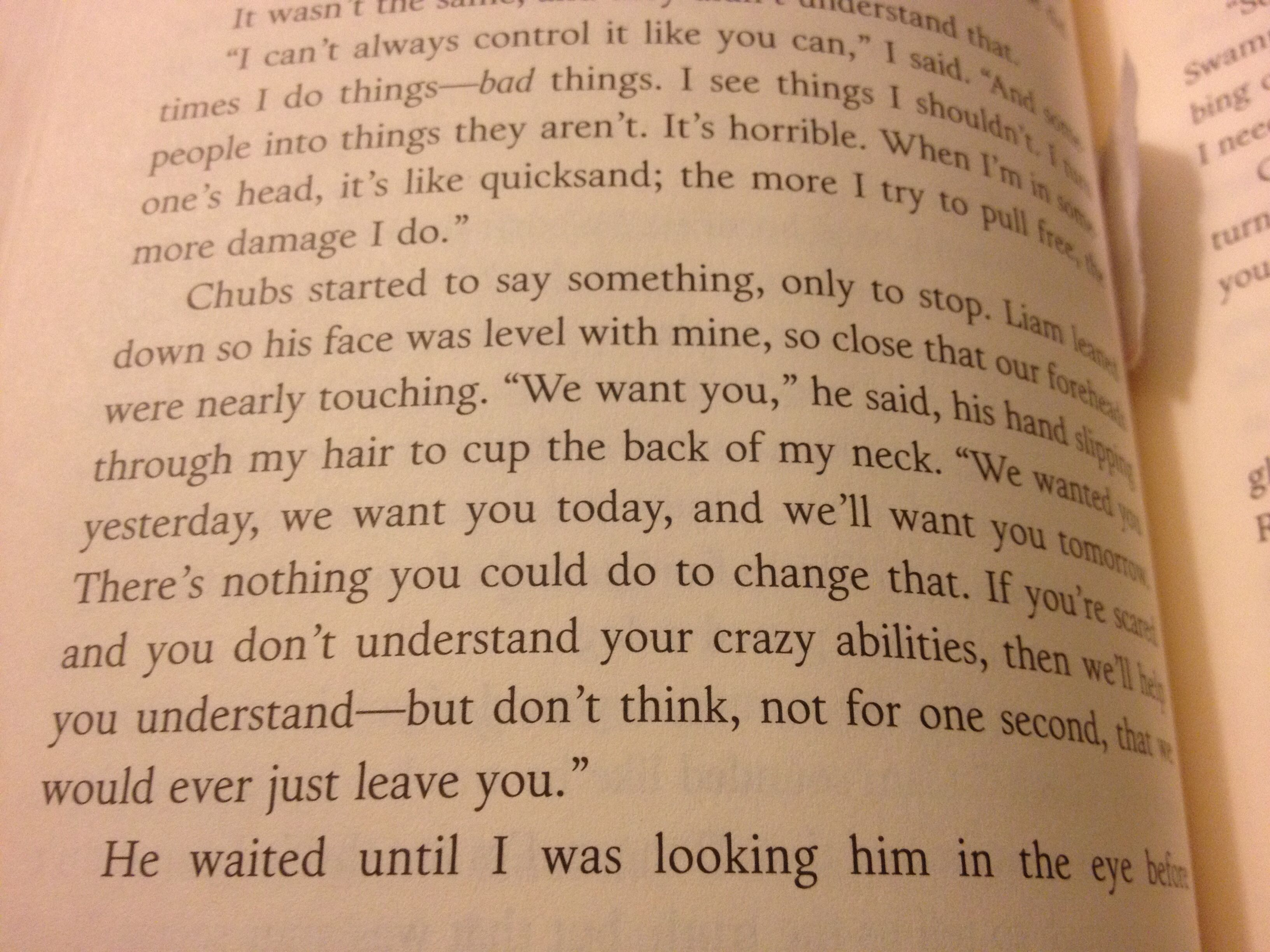 Just Reading The Darkest Minds And Picked Up This Quotes<<Love