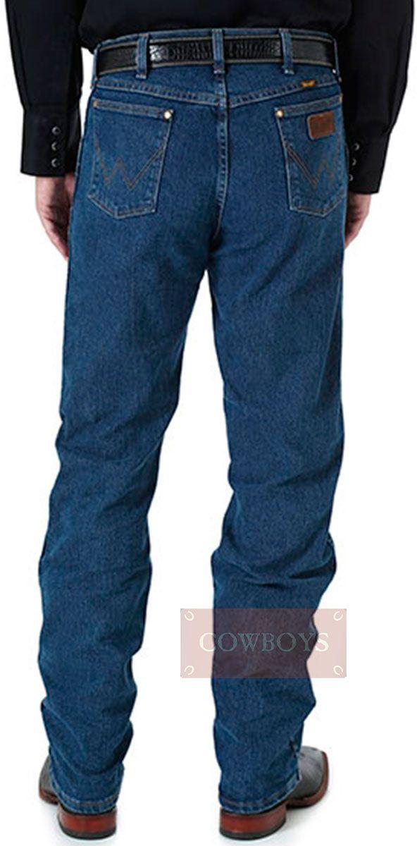 7676e6bb427e5 Calça wrangler Masculina Importada Premium Regular Fit Azul Escura Lavada  com Stretch Calça Wrangler Masculina Importada