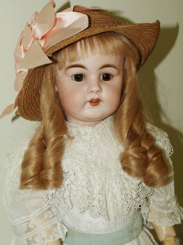 Beautiful Antique Kestner Doll with Sweet Antique Dress
