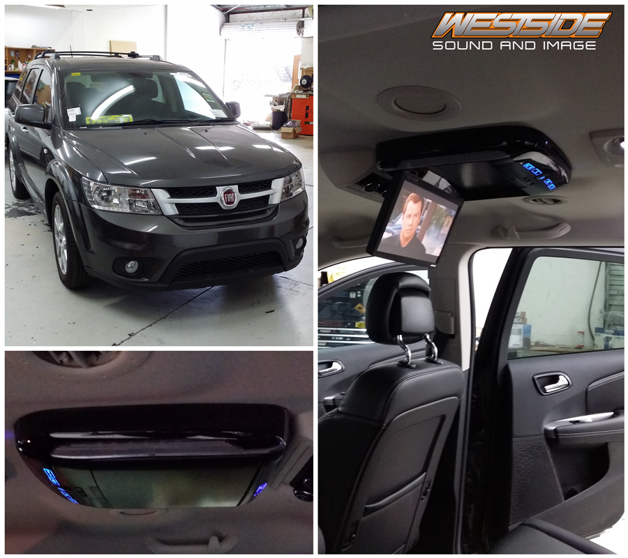 We Installed An Alpine Pkg 2100p Roof Mount Dvd Player In This Brand New Fiat Freemont And Integrated It So That When You Open New Fiat Car Audio Installation