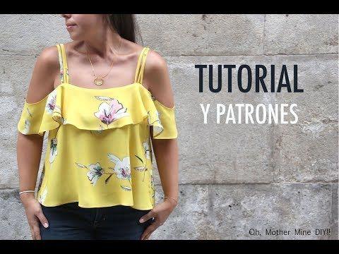 Como hacer blusa con volantes en 18 minutos (patrones) - YouTube ... cb720ec0d0aec