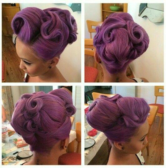 The famous purple updo