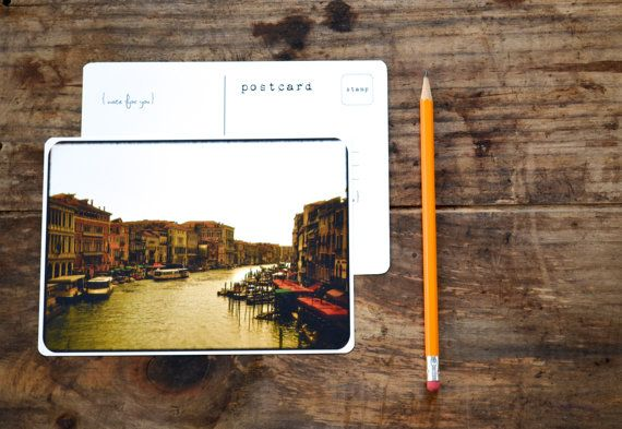 Venice Italy Photo Cards I Framable Rustic Red Brown Travel Photography Notecards I Gift for Her I Red Venice Italy