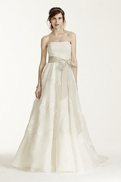 Melissa Sweet Satin Organza and Lace Wedding Dress MS251001 ...