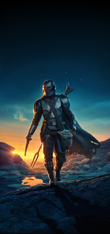 Mandalorian Season 2 Textless Poster Added Top Room For Phone Wallpaper Original Textless Credit A Star Wars Pictures Star Wars Background Star Wars Images