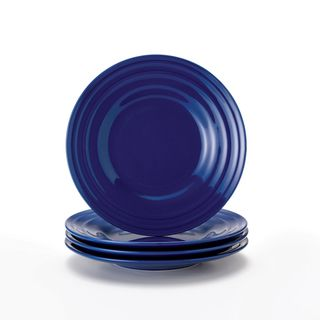 Rachael Ray Double Ridge Blue 8-inch Salad Plates (Set of 4)  sc 1 st  Pinterest & Rachael Ray Double Ridge Blue 8-inch Salad Plates (Set of 4 ...