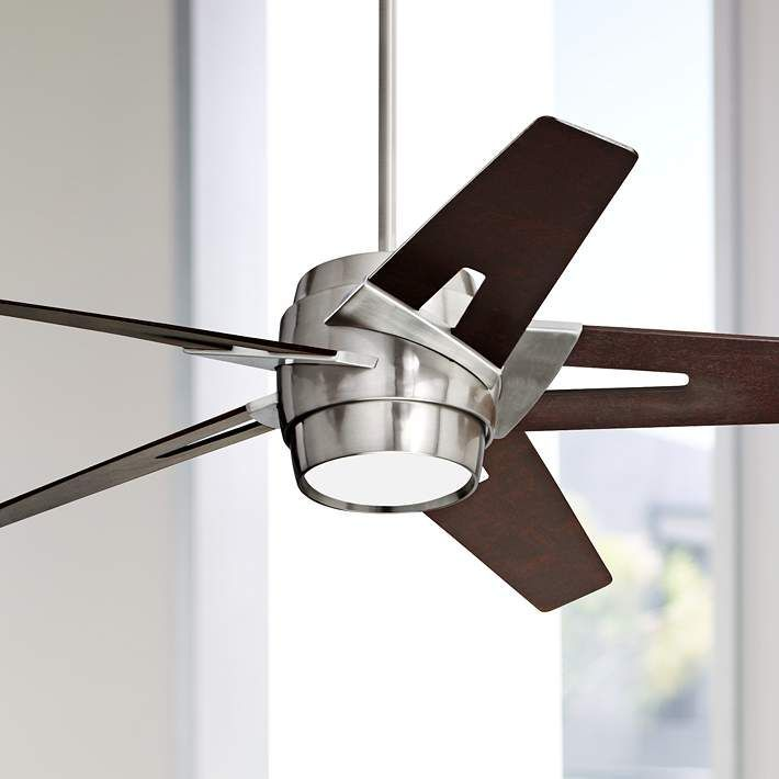 54 Emerson Luxe Eco Steel And Mahogany Ceiling Fan