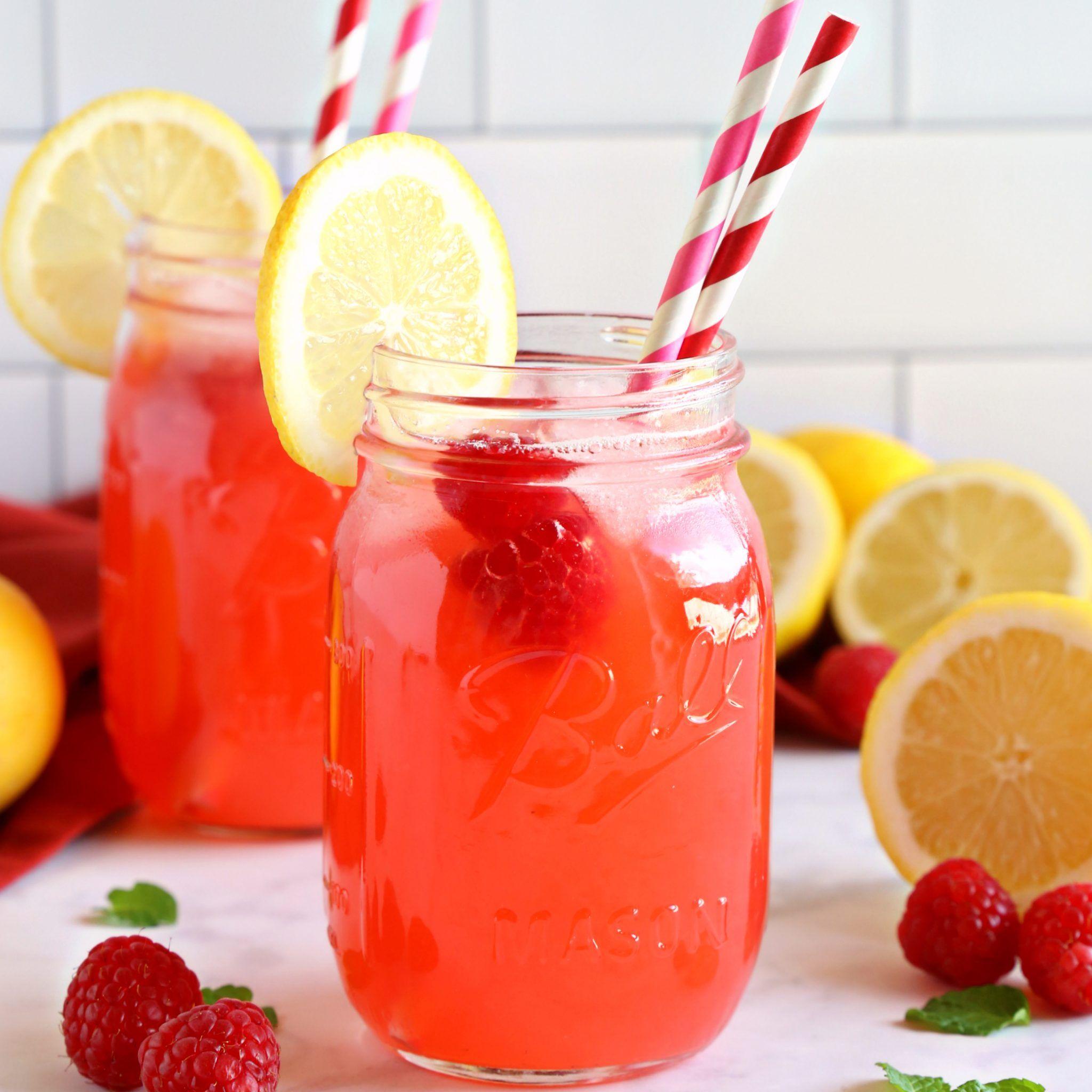 Easy Healthy Raspberry Lemonade {No Refined Sugar!} - The Busy Baker