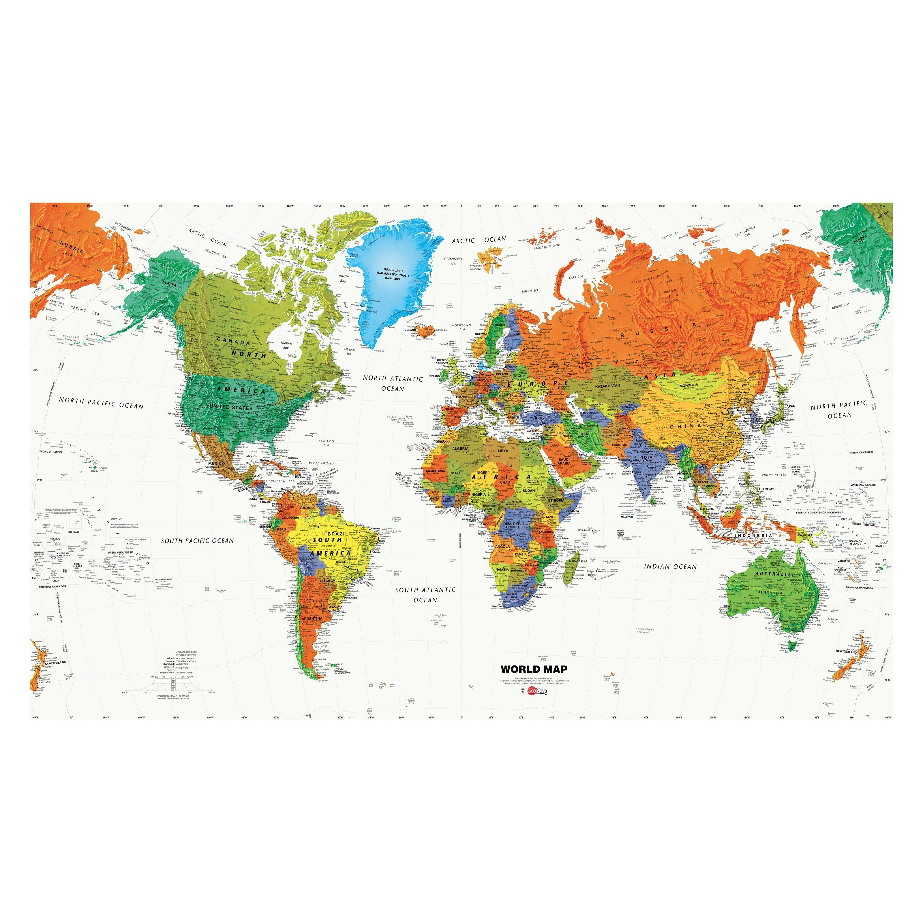 World map wallpaper mural 105w x 6h ft 15499 james room world map wallpaper mural 105w x 6h ft 15499 gumiabroncs Image collections