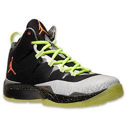 Men's Jordan Super.Fly 2 Basketball Shoes| FinishLine.com | Black/Total Orange/Reflect Silver