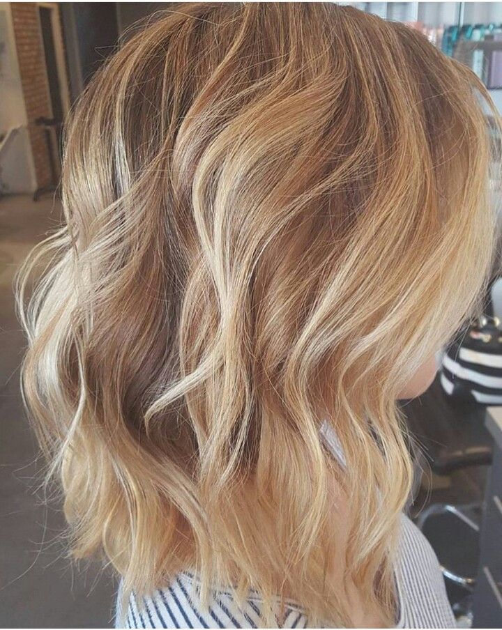 Warm Beige Brown Into A Bright Opal Blonde Balayage With Images