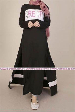 2li Penye Takimi Siyah Bwest 1097 Tesettur Giyim Ayakkabi Pantolon Allday Markaala Dugme Hijab Elbise Tunik Pardes Elbise Elbise Modelleri Giyim