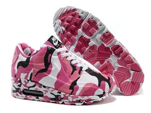new product 52656 d4bec Vente France pas cher Nike Air Max 90 Chaussures Femme Camo Hyperfuse  Premium Rosa Blanche Noir Bordeaux Authentiques