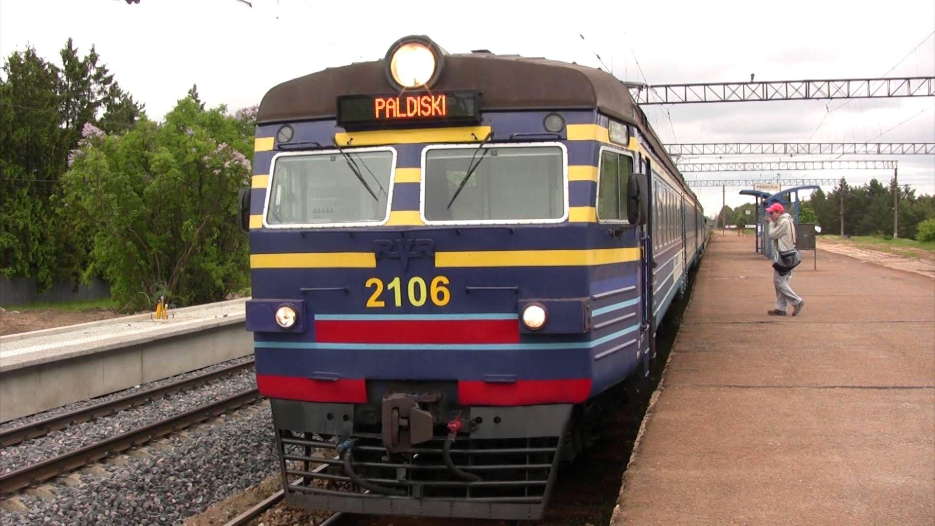 Электропоезд ЭР2-1293 в ст. Пяэскюла, Таллин, Эстония, 09.06.2012 ER2-1293 EMU at Pääsküla station, Tallinn, Estonia, 09.06.2012