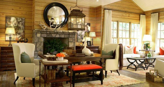 1001 + Ideen für moderne Wohnzimmer Landhausstil ...