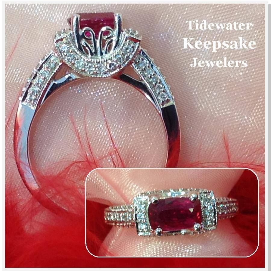 Ruby and diamond ring. Tidewater Keepsake Jewelers | Bling ...