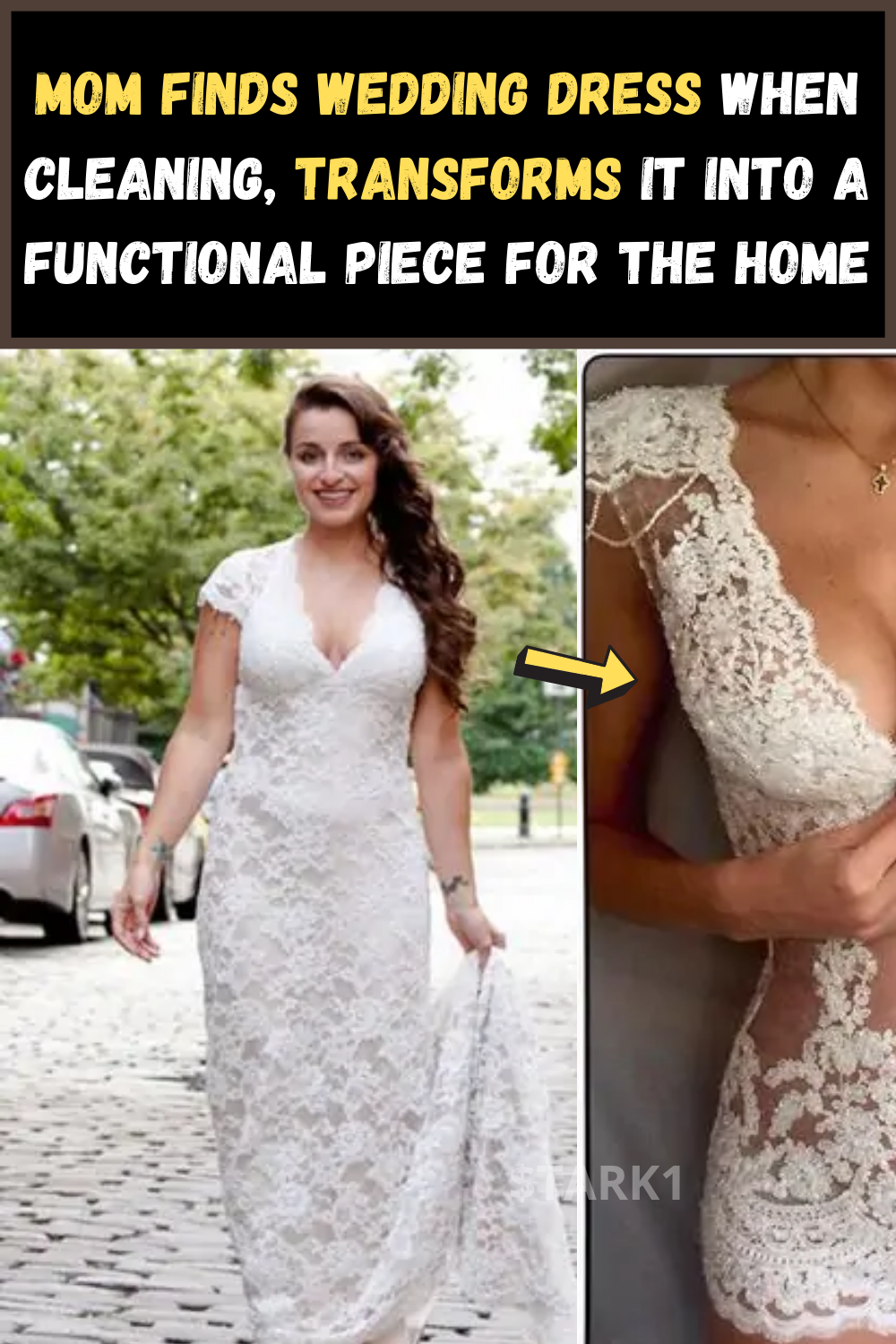 Mom Finds Wedding Dress When Cleaning Transforms It Into A Functional Piece For The Home In 2020 Find Wedding Dress Fashion Wedding Dresses
