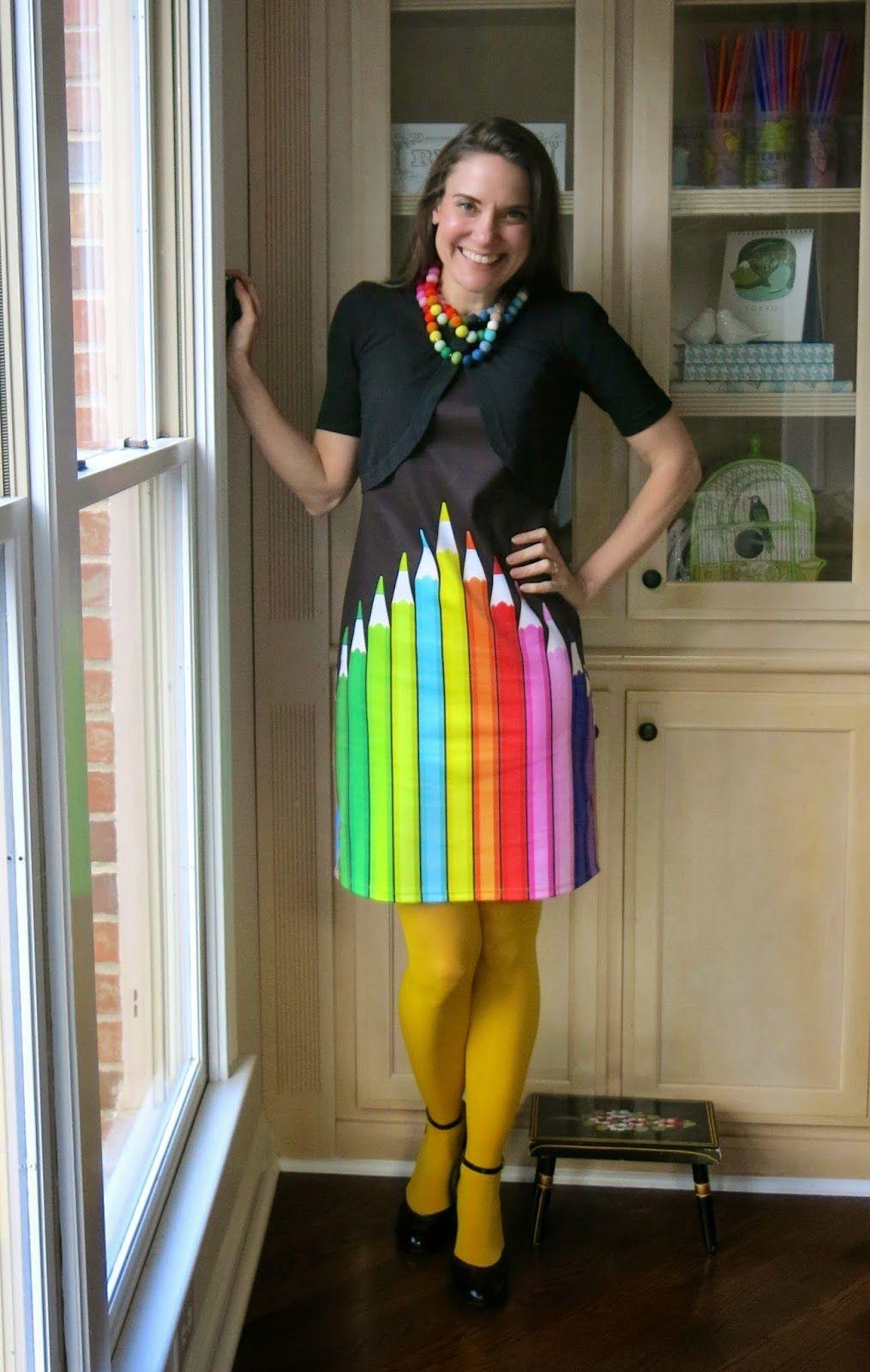 pencil dress for the art teacher | my blog | Pinterest | Teaching ...