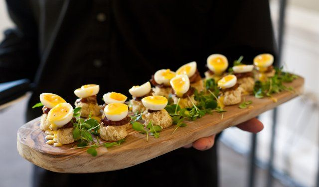 Pin by alethea rheeder on catering canapes bowl food for Breakfast canape