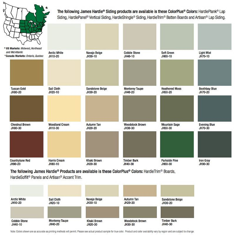 Fiber Cement Siding Hardie Board Colors