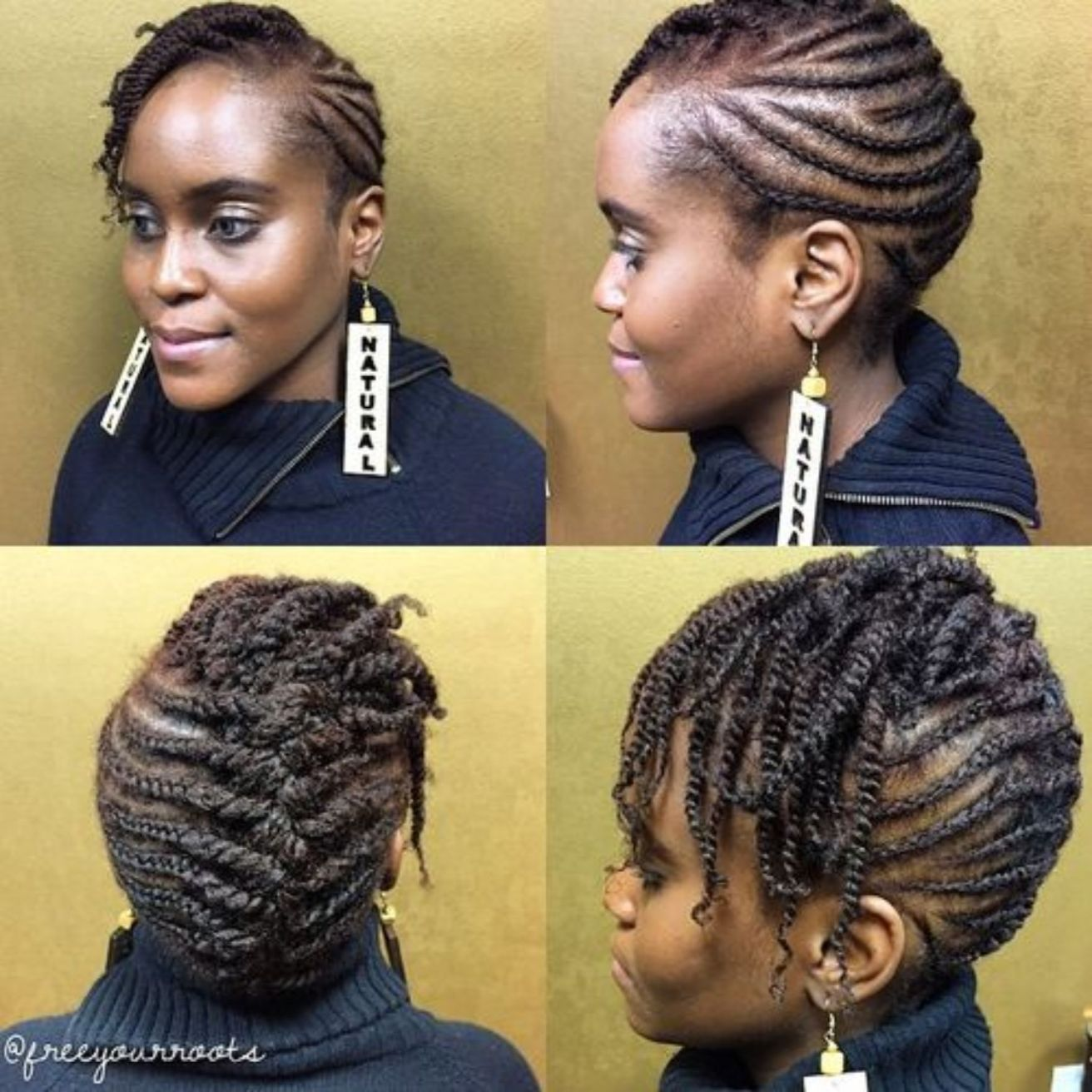 Braided Mohawk For Short Natural Hair Short Natural Hair Styles Natural Hair Braids Natural Hair Styles