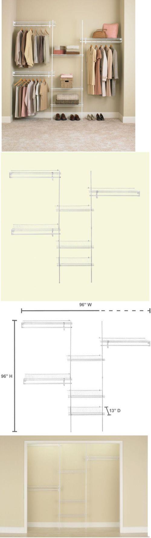 Closet Organizers 43503: Closetmaid Closet Organizer Kit White Ventilated  Wire Shelves (5 Ft.