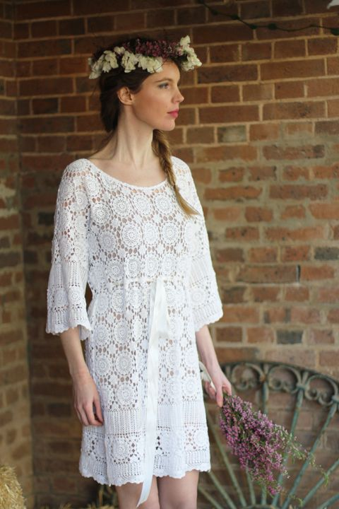Free Tutorial Diy How To Make Crocheted Lace Wedding Dress From