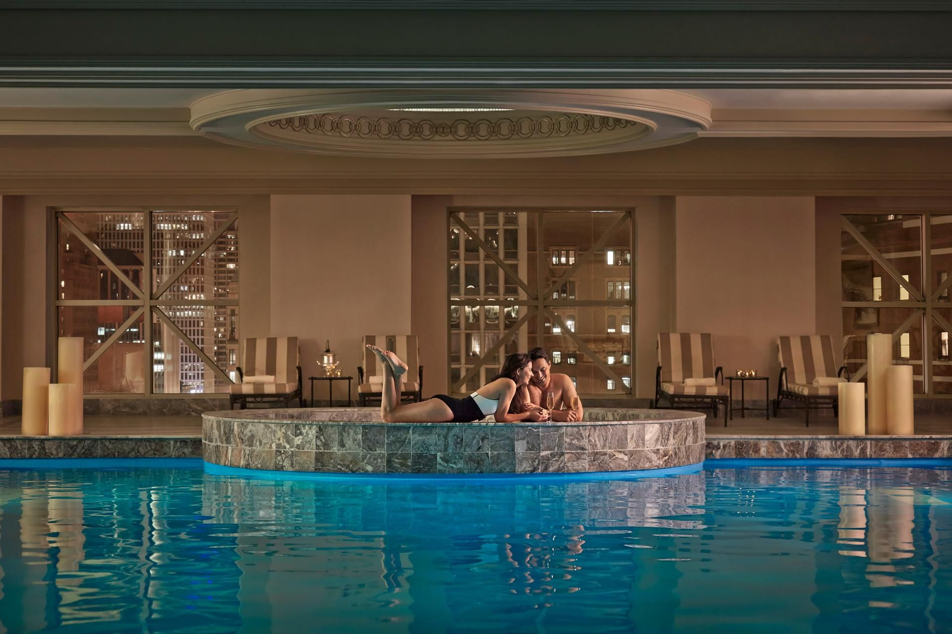 For An Unforgettable Experience Skylight Swim Transforms The Spa At Four Seasons Into An Exclusive Sanctuary Of Sereni Chicago Hotels Chicago Resorts Spa Trip