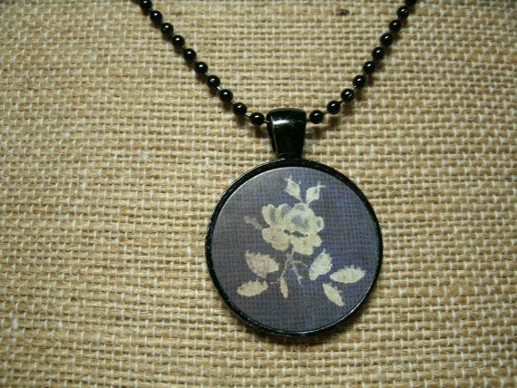 Victorian Rose Print Necklace by UnearthlyTreasures on Etsy, $10.00