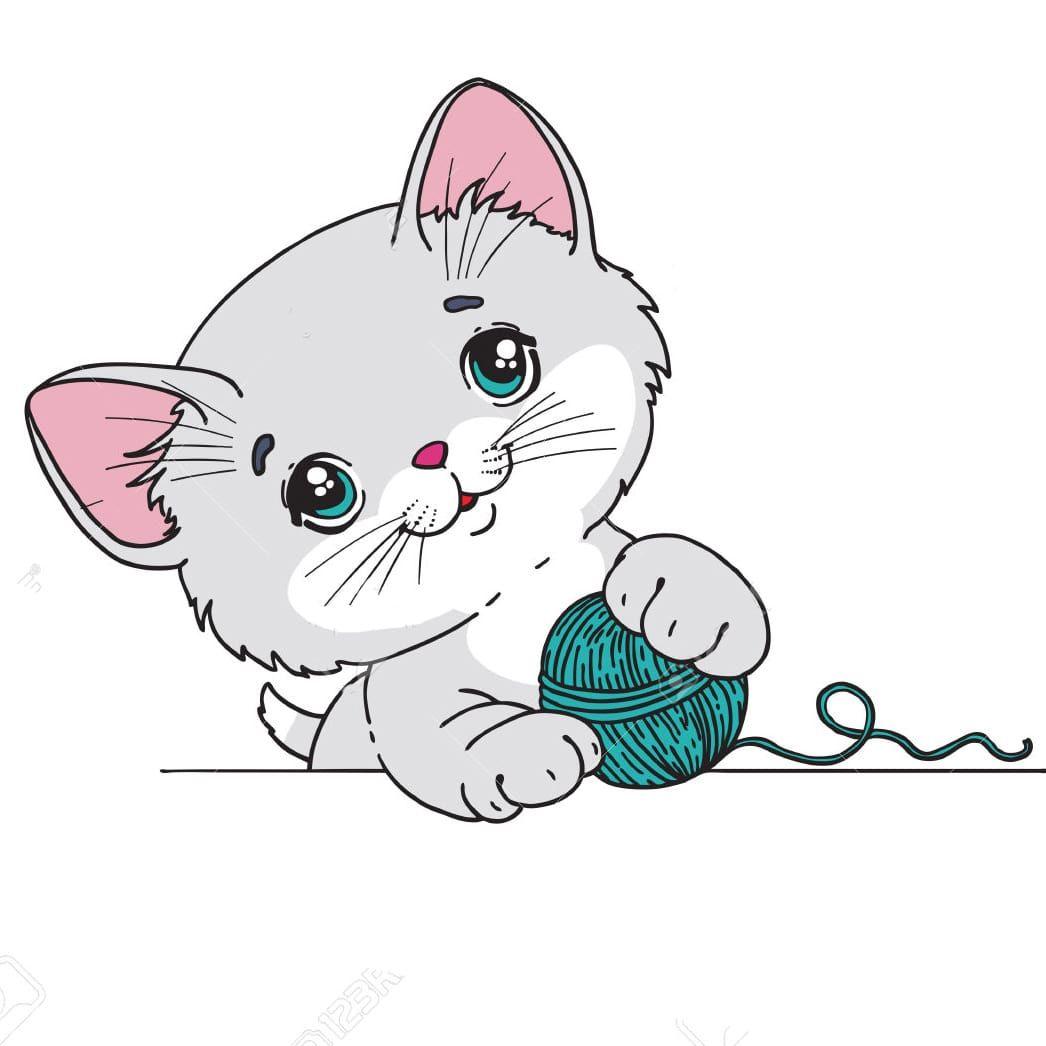 Милые картинки котиков для срисовки :3 Большая коллекция ...