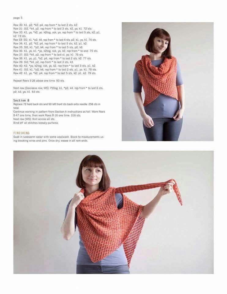 Met armsgaten | Haken kleding/Crochet clothing | Pinterest