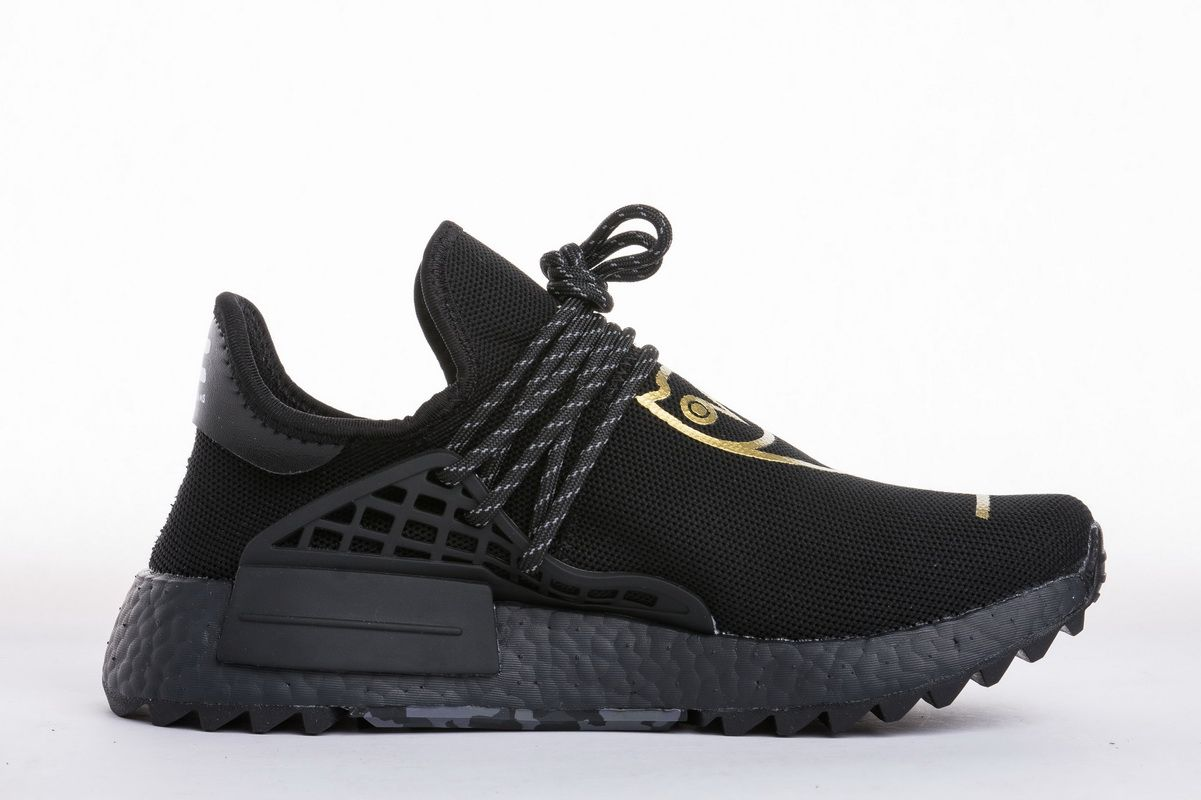 c0053e00cb36b OVO x Pharrell Williams x Adidas NMD Human Race BB7603 Black Gold Real  Boost for Sale2