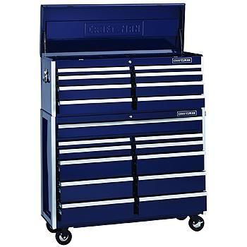 Edge Series 52 Inch 19 Drawer Premium Heavy Duty Tool Chest Combo Midnight Blue Tool Storage Drawers Make Up Storage