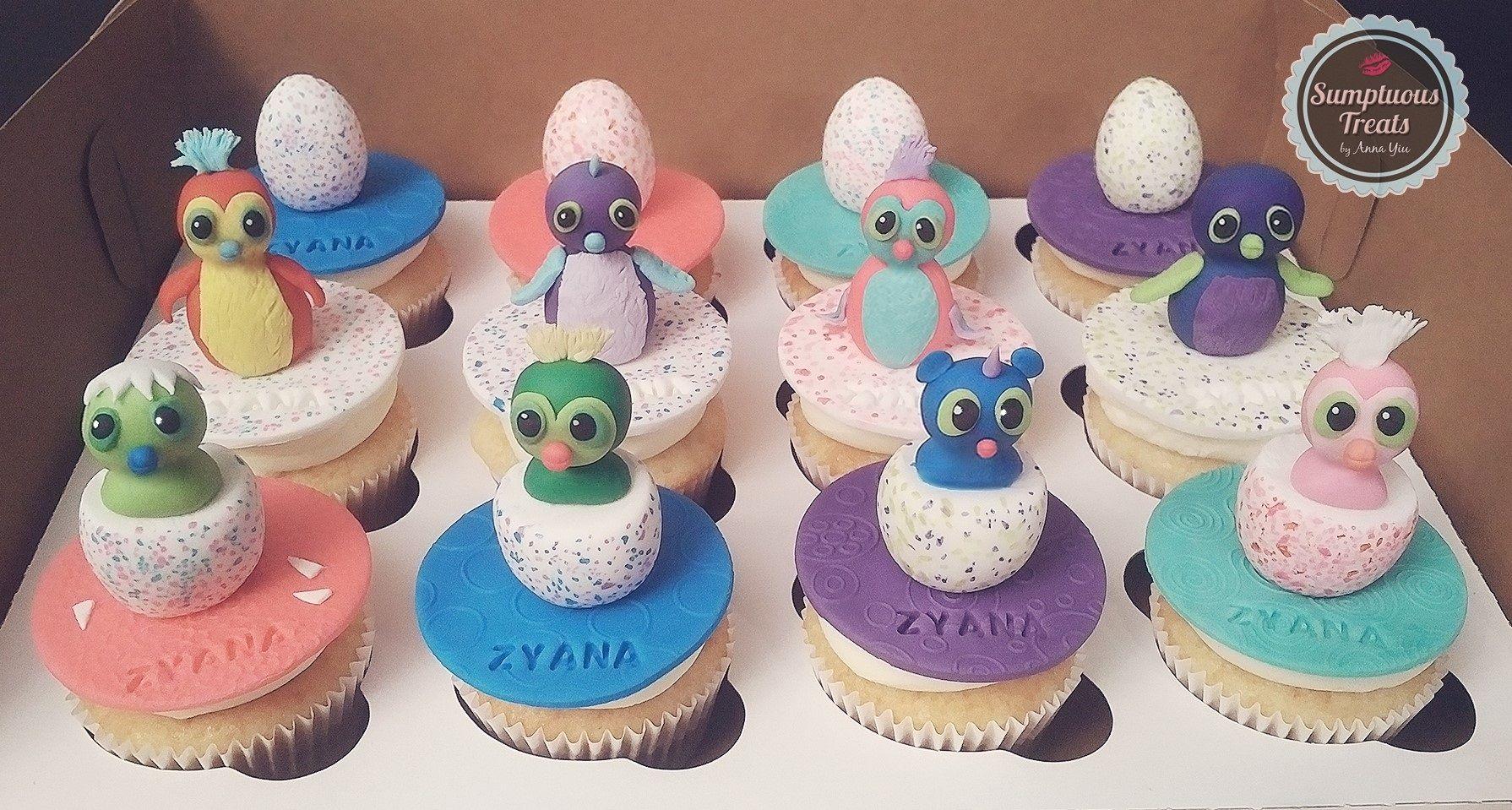 Hatchimals Cupcakes Custom Made To Order Cakes Cookies Edible Art Sumptuoustreats