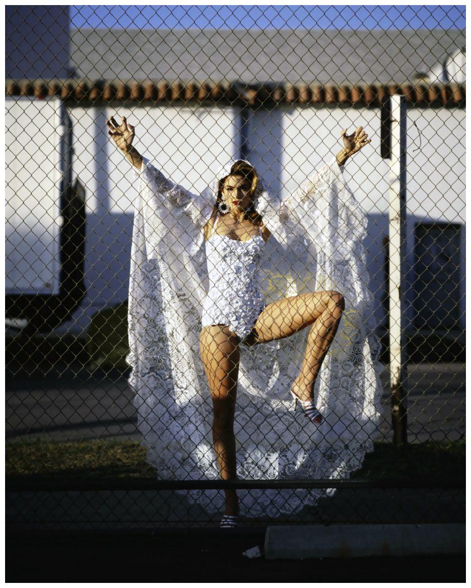 Cindy Crawford, photo by Michael Comte, Vanity Fair, 1992.