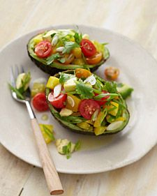 avocado with bell peppers and tomatoes