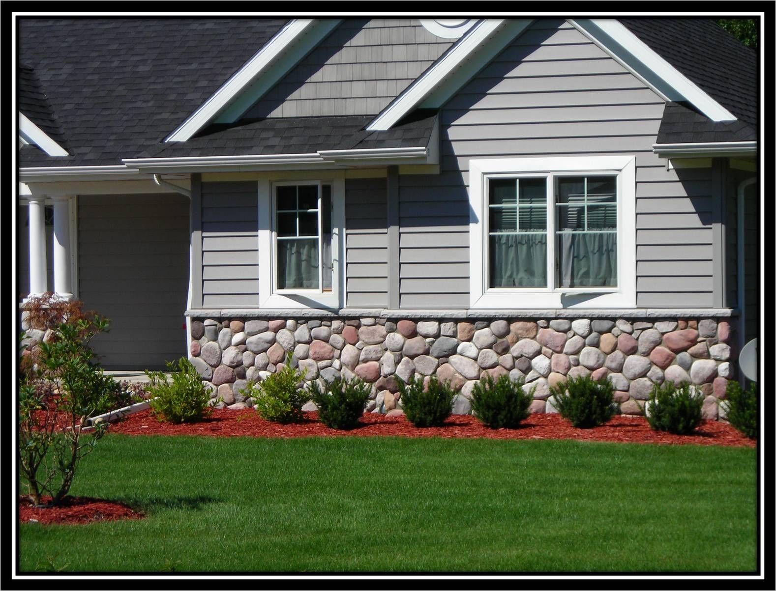 Stone Exterior Wainscot Indiana Fieldstone J N Stone Exterior Stone Fieldstone Landscape Products