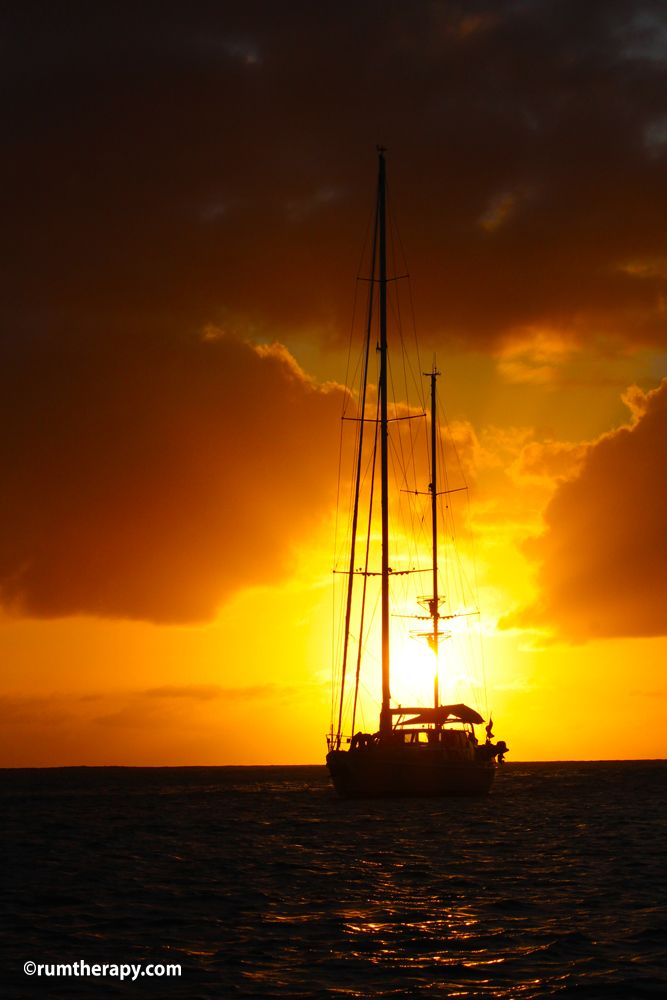 Sunset at Anse du Grande Columbier, St. Barths