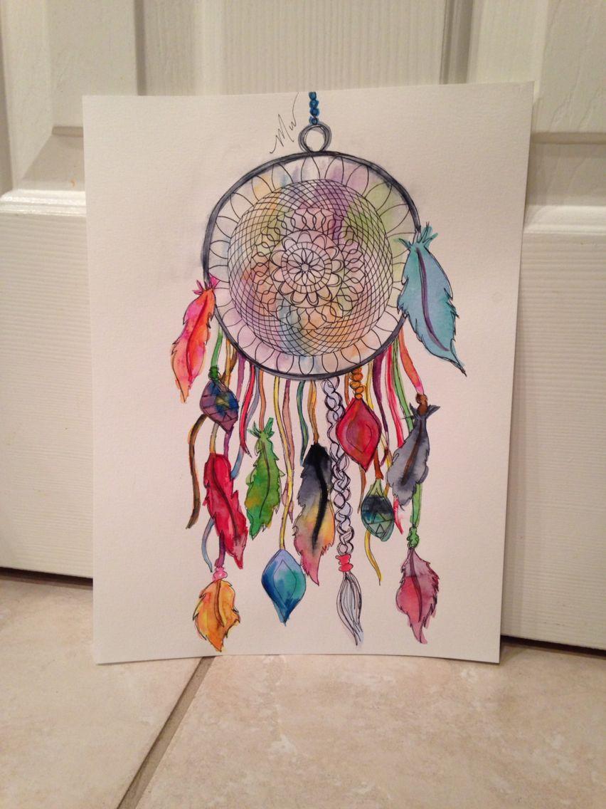 Color art dreamcatcher - Water Color Dream Catcher Sketch Https Www Etsy Com Listing